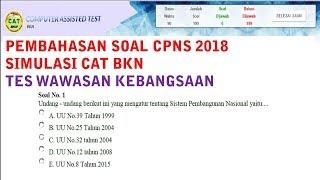 Download Video Pembahasan Soal CAT BKN CPNS 2018 - Tes Wawasan Kebangsaan MP3 3GP MP4