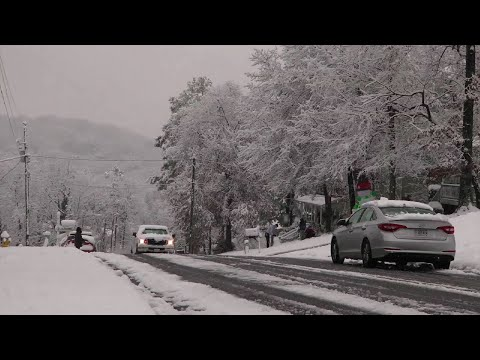 Snow Dusts Parts of the Deep South