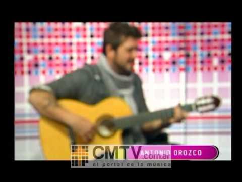 Antonio Orozco video Ya lo sabes - Estudio CM Agosto 2012
