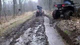8. Polaris Sportsman 500 HO & 700 EFI Trail Riding & Mudding Off Road