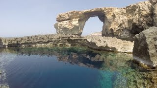 Gozo Malta  city photo : Diving the Blue Hole & Azure Window 23 April 2015 (Gozo - Malta)