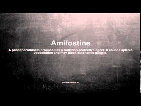 Medical vocabulary: What does Amifostine mean