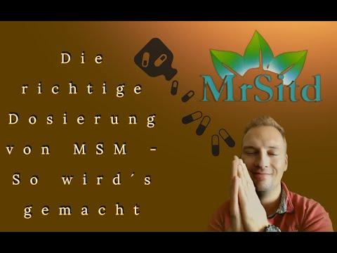 Richtige !!! Dosierung von MSM eigener Schwefel