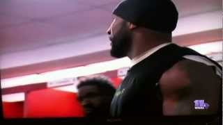 Ray Lewis: Locker room after last victory as a Raven - YouTube