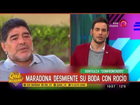 Maradona desmiente que vaya a casarse con Rocío Oliva (VÍDEO)