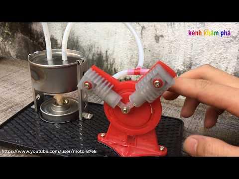 động cơ hơi nước mini - Mini steam engine - Thời lượng: 110 giây.