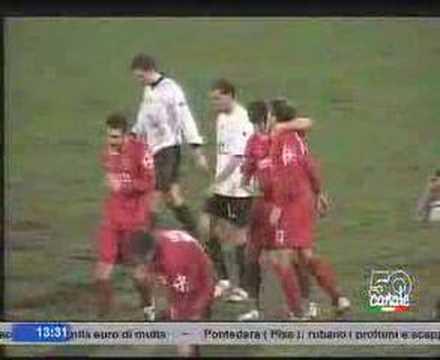 Gol de Vitali Kutuzov en el Pisa ante el Spezia