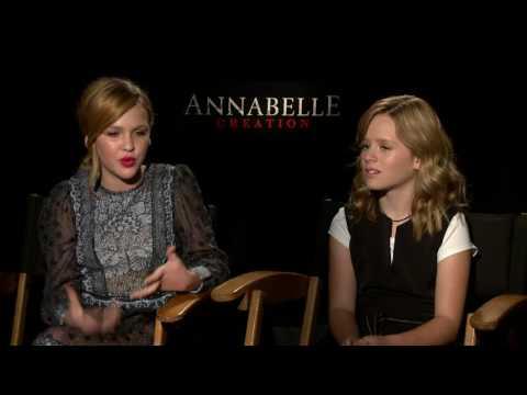 Annabelle: Creation: Talitha Bateman & Lulu Wilson Official Movie Interview