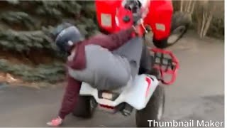10. Honda trx250x 2018 wheelies