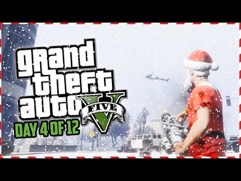 GTA 5 Funny Moments – Grinch Military Base Heist Attack!!! (Day 4 of 12) (GTA 5 Christmas Special)