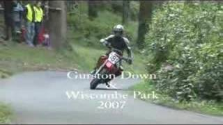 Bikers takeon Gurston Down & wiscombe Park in 2007 for the Speed Hillclimb Championships