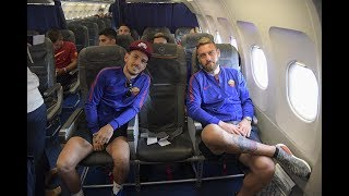 Don't miss footage from Roma's first day on their 2017 tour of the United States...Subscribe to AS Roma on YouTube: http://bit.ly/ASRoma_Welcome to the official Youtube channel of AS Roma.Roma Network is the destination for Giallorossi, lifestyle and entertainment. Il canale ufficiale Youtube dell'AS Roma.Roma Network è il mondo dell'intrattenimento e del lifestyle per i tifosi giallorossi di tutto il mondo.Facebook: https://www.facebook.com/officialasromaGoogle+: https://plus.google.com/u/1/+asroma/Instagram: https://instagram.com/officialasroma/Twitter: https://twitter.com/OfficialASRoma