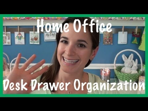 Organization - I'm back with the next video in my home office organization series, this time featuring my desk drawer organization. Check out my blog (link below) for a coo...