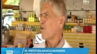 Prefeitura anuncia banheiros móveis em feiras livres - Hora News/TV Record