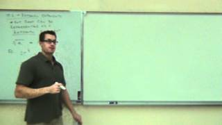 Intermediate Algebra Lecture 10.2 Part 1