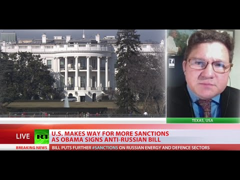 sanctions - Russia could soon be targeted by yet another round of U.S. sanctions. RT talks to Daniel McAdams, Executive Director of the Ron Paul Peace Institute. RT LIVE http://rt.com/on-air Subscribe...