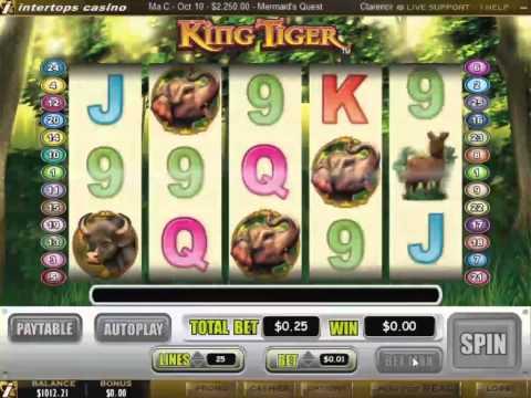 King Tiger Slot Machine at Intertops Casino