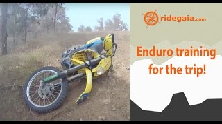 Enduro training before the trip with Cyprus Motorcycle Academy