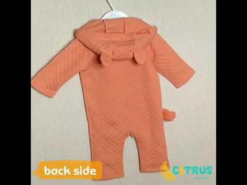 Цитрусовая весенняя одежда для малышей детский комбинезон с длинными рук… видео