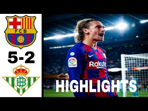 5-2 Fc Barcelona VS Real betis [ALL GOALS] 25-8-19