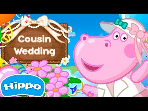 Jogos de meninas - Hippo  Festa de casamento  Jogos para Meninas  Jogo de desenhos animados para crianças