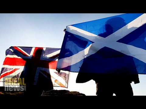 special - TRNN hears from both sides of the debate on whether to vote for independence from the United Kingdom.