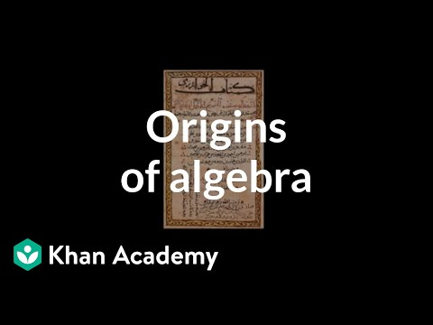Algebra: Introduction to algebra