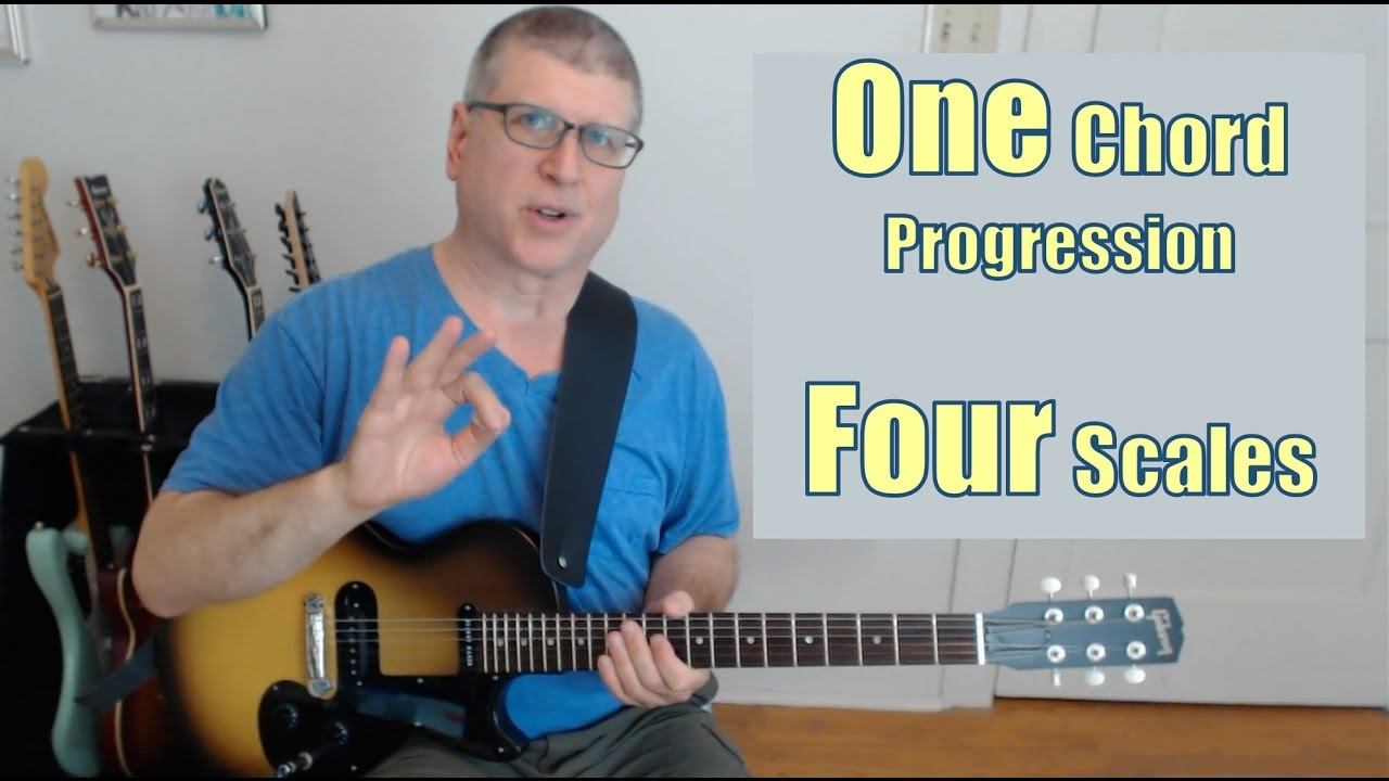 1 Chord Progression, 4 Guitar Scales, Infinite Possibilities