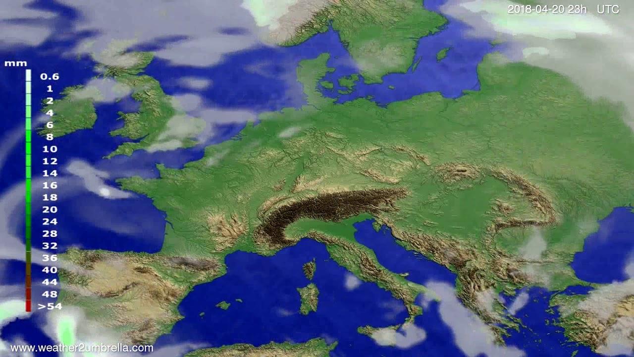 Precipitation forecast Europe 2018-04-17
