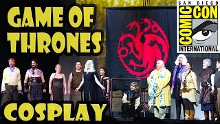 Game of Thrones Cosplay at the San Diego Comic Con 2017 Masquerade Costume Contest. Winter is finally here, but the battle...