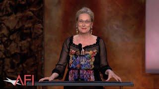 Meryl Streep salutes Jane Fonda at the 42nd AFI Life Achievement Award