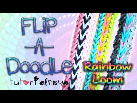 NEW Flip-A-Doodle RAINBOW LOOM Bracelet Tutorial | How To