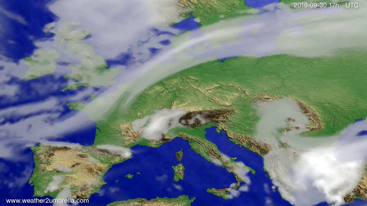 Cloud forecast Europe 2018-09-28
