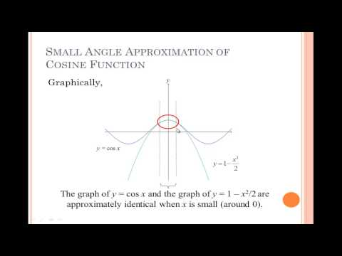 how to prove small angle approximation