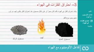 تفاعل بعض المواد مع الهواء – تفاعل الالومينيوم مع الهواء