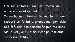Nessbeal Ft. Orelsan - Ma Grosse - Paroles