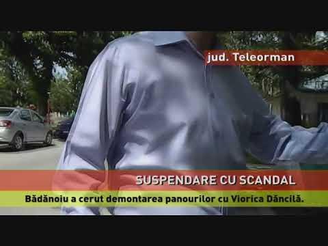 Primarul din Videle, suspendat din cauza panourilor cu Dăncilă
