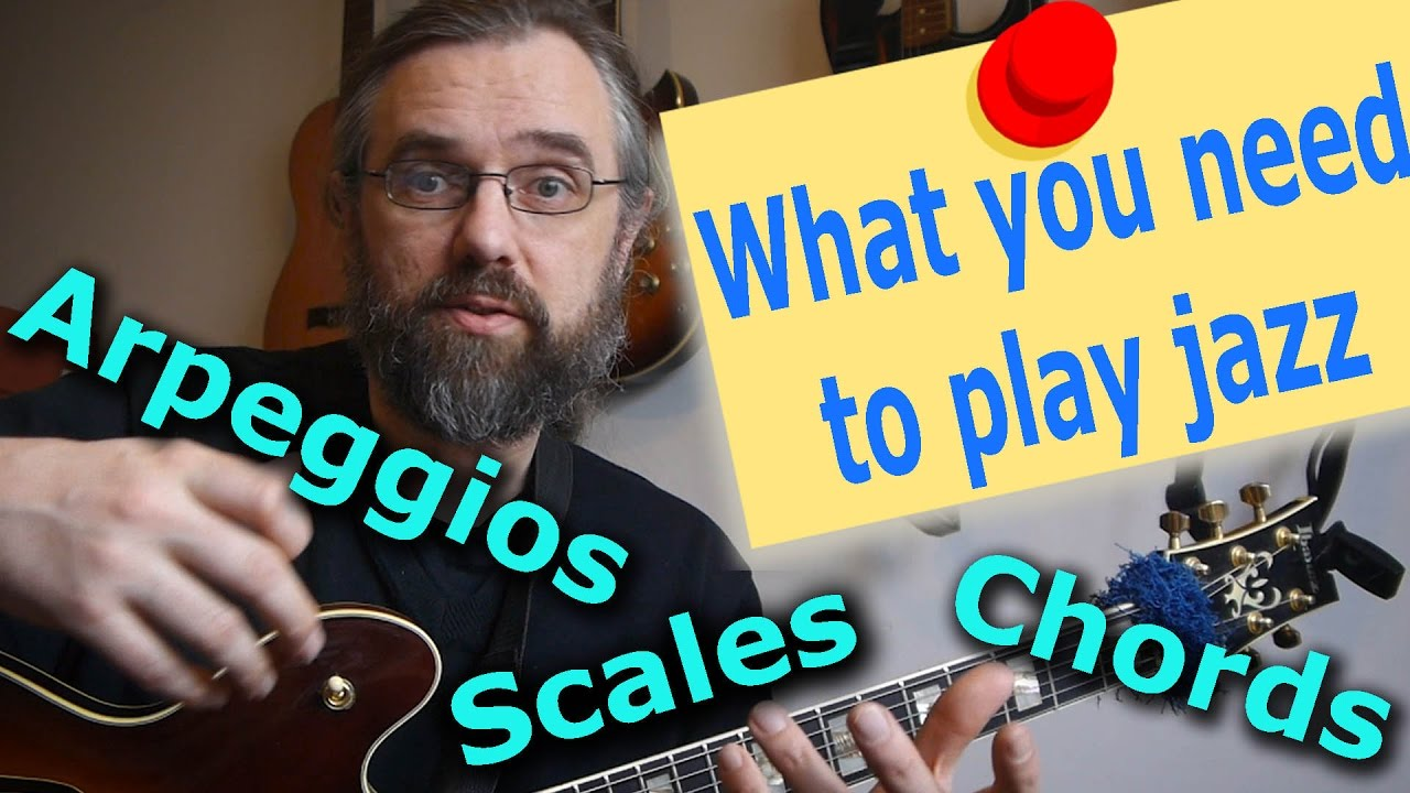 Vlog: What Do You Need To Play Jazz Guitar! – Scales, Theory, Arpeggios, Chords