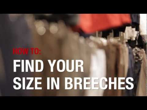 How to measure sizes when buying riding breeches from Horze.com