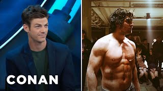 Video Stephen Amell Is So Buff, He Intimidated Grant Gustin  - CONAN on TBS MP3, 3GP, MP4, WEBM, AVI, FLV September 2018