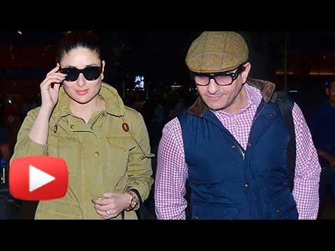 Saif Ali Khan And Kareena Kapoor Khan Return From