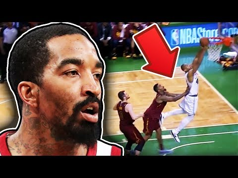 JR Smith Pushes Al Horford And Fight Breaks Out
