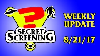 Introducing a fast way to know what's going on with Secret Screening, Douglas MacKrell, and the videos he creates for his channel: Secret Screening Weekly Update!------------------LIVE MEETING STREAMING LINKhttps://youtu.be/M_VLGjwOWsQTWITTER PAGE DIRECT LINKhttps://twitter.com/DouglasMacKrellSEND ME LETTERS!Douglas MacKrellP.O. Box 1184Long Island City, NY 11101EMAILBigMacKrell@gmail.comCHECK OUT MY WEBSITEhttp://www.BigMacKrell.comSPREAD THE WORD! SHARE THE SHOW!https://goo.gl/NudBiKSUPPORT THE SHOW AND UNLOCK COOL BONUS CONTENT ON PATREON!http://www.patreon.com/BigMacKrellRICK AND MORTY COUNCIL OF RICKS FIDGET SPINNERhttp://roothm.storenvy.com/products/20069234-rick-and-morty-council-of-ricks-fidget-spinner------------------SEND ME LETTERS!Douglas MacKrellP.O. Box 1184Long Island City, NY 11101Websitehttp://www.BigMacKrell.comStorehttp://roothm.storenvy.comFacebookhttps://www.facebook.com/BigMacKrell/Facebook Group Pagehttps://www.facebook.com/groups/ROotHM/Twitterhttps://twitter.com/DouglasMacKrellInstagramhttp://instagram.com/douglasmackrellG+https://www.google.com/+BigMacKrell---------------Welcome to Secret Screening's Weekly Update. Since it's hard to spread the word across social media as efficiently as uploading a new video on YouTube, I've decided to make quick weekly that inform and remind my fans and followers about all of my upcoming events. First up is this month's Live Meeting. Every month, usually held on the last saturday of the month, I hold a Hangout here on YouTube and invite my viewers to join me on camera in the hangout room. This month, we will be holding our meeting on Saturday, August 26th, 2017 between 3pm - 5pm Eastern Standard Time. If you're not following me on Twitter, now is the time to do so. Because just before 3pm, I will be posting the link to join me on camera there, and that's it. Since access is first come first serve, you'll need to find and click that link fast. The good news is you don't need a twitter account to see my twee