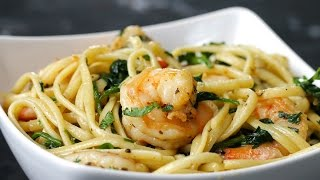 One-Pot Lemon Garlic Shrimp Pasta by Tasty