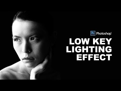 How to Create Low Key Portrait Effect in Photoshop - Black & White Dramatic Lighting Tutorial