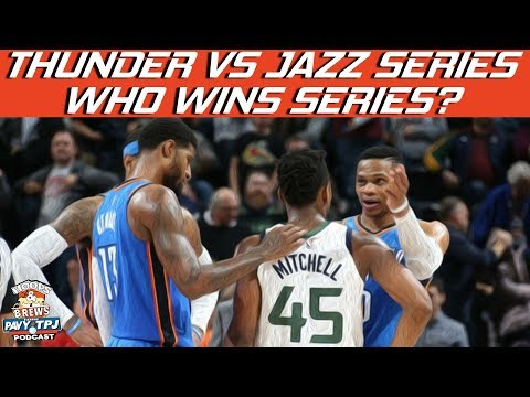 Who Wins Thunder Vs Jazz Series? | #HoopsNBrews