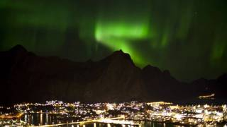 Svolvaer Norway  city pictures gallery : The Northern Light above Svolvær city, Lofoten, Norway.