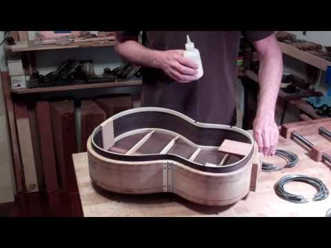 Classical Guitar Building, Oberg Guitars, Clamping the Top to the Body