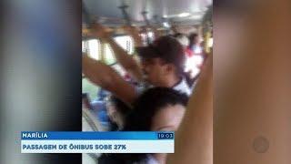 Tarifa de ônibus em Marília sobe 26,6% e vai para R$ 3,80