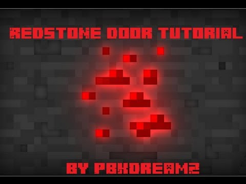 how to make minecraft redstone doors